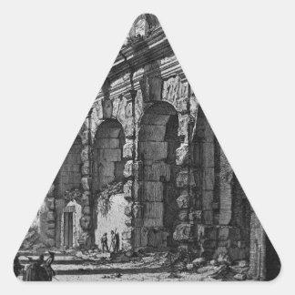 動物の上方の階の眺め 三角形シール