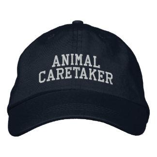 動物の世話人 刺繍入りキャップ