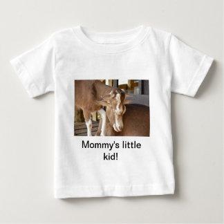 動物の母およびベビーのヤギ ベビーTシャツ