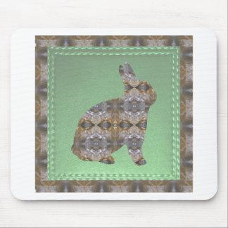 動物の芸術のウサギのかたつむり象の魚の鳥のクジラ マウスパッド