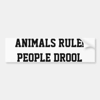 動物の規則! 人々のよだれ バンパーステッカー