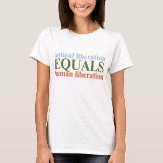 動物の解放は人間の解放に匹敵します Tシャツ