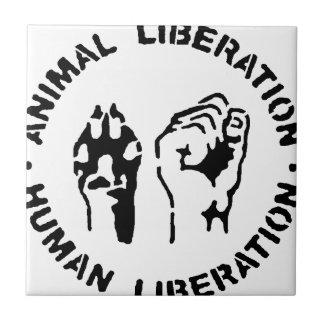 動物の解放-人間の解放 タイル