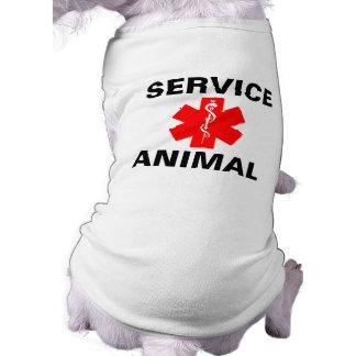 動物の赤い医学の注意深い記号のタンクトップを整備して下さい ペット服
