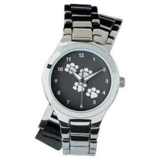 動物の足のプリント 腕時計