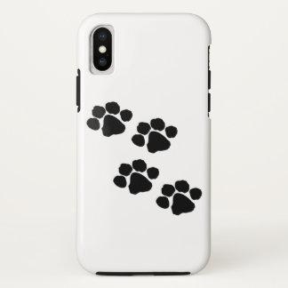 動物の足のプリント iPhone X ケース