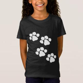動物の足のプリント Tシャツ