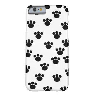 動物の足パターン。 白黒。 iPhone 6 ベアリーゼアケース