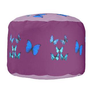 動物の野生の昆虫の蝶青い翼の翼 プーフ