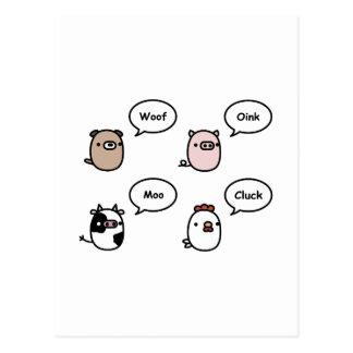 動物の騒音 ポストカード