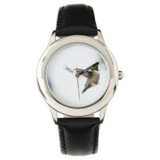 動物の鳥のルビーthroatedハチドリ 腕時計