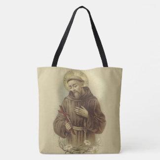 動物のAssisiの守護聖人のSt Francis トートバッグ