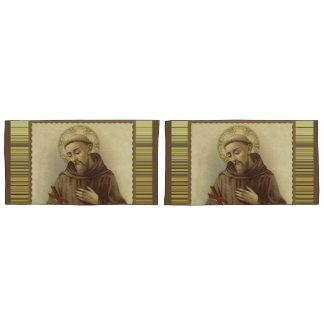 動物のAssisiの守護聖人のSt Francis 枕カバー