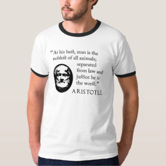 動物のTシャツの最も気高く、最も悪いアリストテレス- Tシャツ