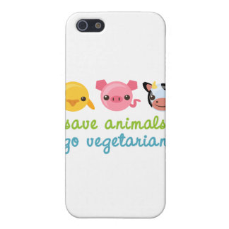 動物をベジタリアン行きます救って下さい iPhone 5 ケース