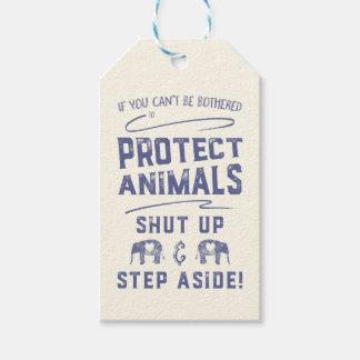 動物を保護して下さい ギフトタグ