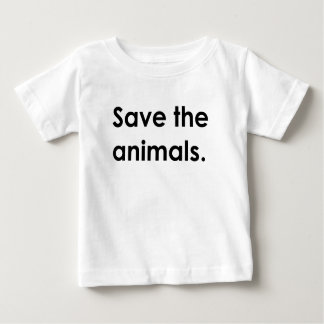 """""""動物を救って下さい。""""ベビーのワイシャツ ベビーTシャツ"""