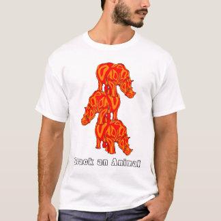 動物を積み重ねて下さい(サイ) Tシャツ