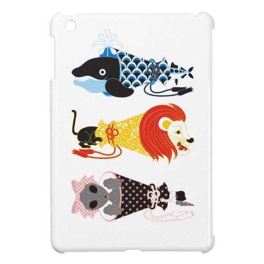 動物メガホン…魚・猫・女子(ANIMAL MEGAPHONE A FISH,A CAT,A WOMA iPad MINI カバー
