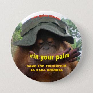 動物保護のための保存の活動家 7.6CM 丸型バッジ
