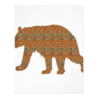 動物園くまのWildAnimalペットのグラフィックアート レターヘッド