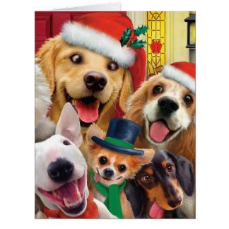 動物園のクリスマスカードへのジャンボメリークリスマス カード
