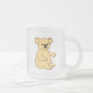 動物園のコアラ フロストグラスマグカップ