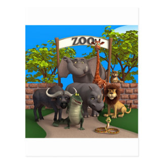 動物園の動物 ポストカード
