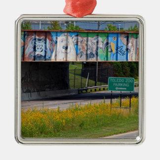 動物園の壁画 メタルオーナメント