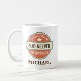 動物園の飼育係の名前入りなオフィスのマグのギフト コーヒーマグカップ