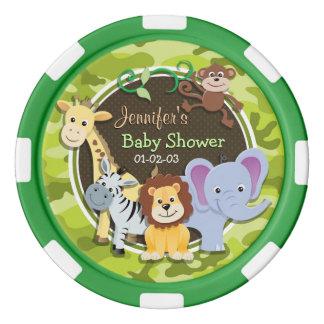 動物園動物; 若草色の迷彩柄、カムフラージュ ポーカーチップ