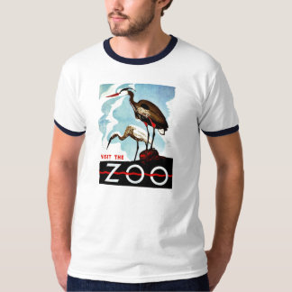 動物園、鷲、ヴィンテージレトロWPAを訪問して下さい Tシャツ