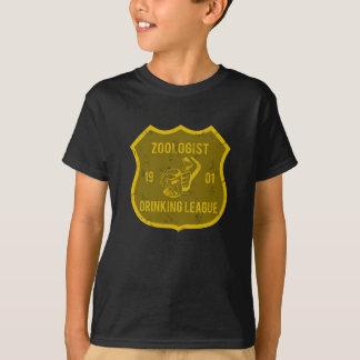動物学者の飲むリーグ Tシャツ