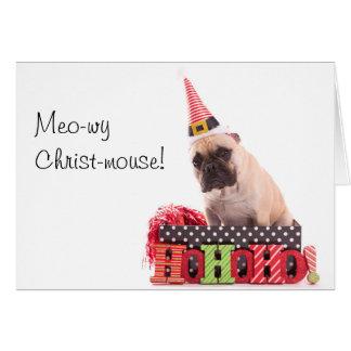 動物愛好家のためのユニークなメリークリスマスカード カード