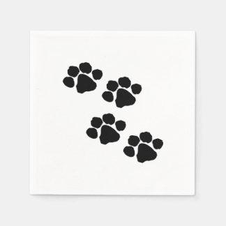 動物愛好家のための足のプリント スタンダードカクテルナプキン