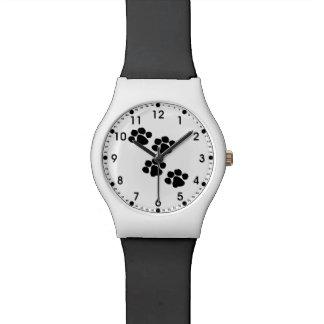 動物愛好家のための足のプリント 腕時計