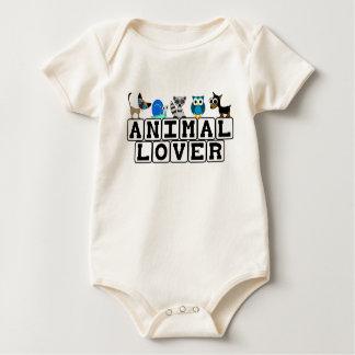 動物愛好家のベビーのTシャツ ベビーボディスーツ