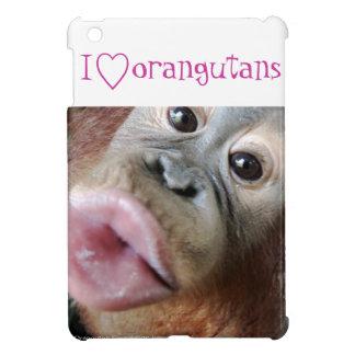 動物愛好家: 私はオランウータンを愛します iPad MINI カバー