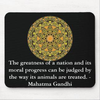 動物権の引用文- Mahatma Gandhi マウスパッド
