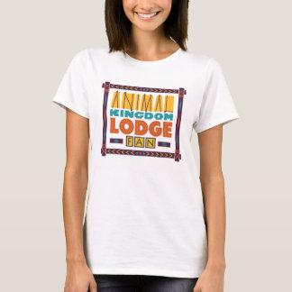 動物界ロッジファンの女性のTシャツ Tシャツ