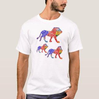 動物界:  色彩の鮮やかなライオン家族 Tシャツ