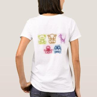 動物色 Tシャツ