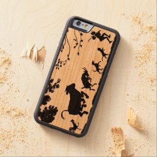 動物鶏、牛、ヤギ、犬を持つ幸せな農家 CarvedチェリーiPhone 6バンパーケース