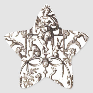 動物1700のフランス人の版木、銅版、版画 星シール