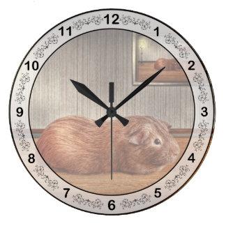 動物-モルモット ラージ壁時計
