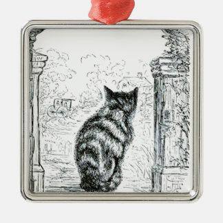 動物-動物の代理の人間-猫complainingr.pn メタルオーナメント