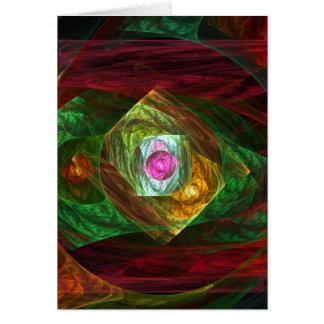 動的つながりの抽象美術のメッセージカード カード
