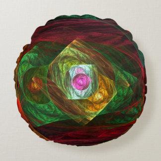 動的つながりの抽象美術の円形の枕 ラウンドクッション