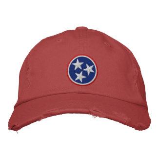 動的テネシー州の州の旗のグラフィック 刺繍入りキャップ