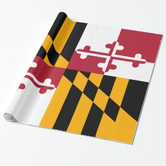 動的メリーランドの州の旗 ラッピングペーパー